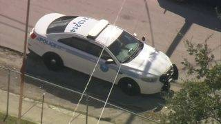 Miami police cruiser struck by stray bullet with officer in car