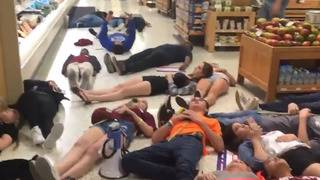 'Where shooting is a pleasure:' David Hogg organizes 'die-in' protest at Publix