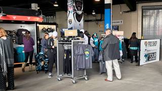 Jaguars fans get geared up at EverBank Field