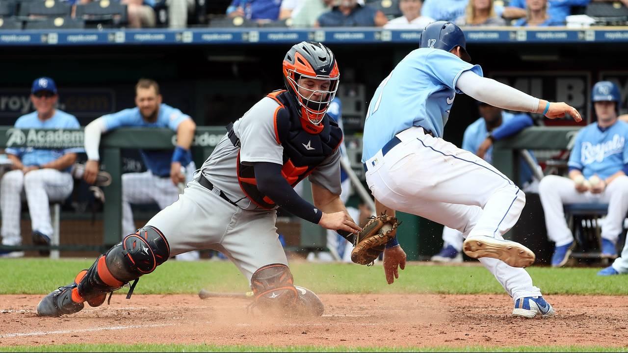 Grayson Greiner Detroit Tigers vs Royals 2018