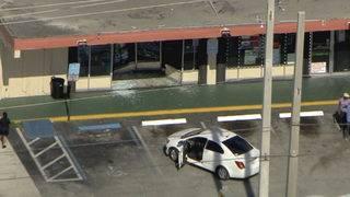 Car crashes into Super Stop convenience store in North Miami