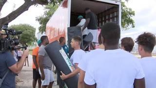 Miami Dolphins helps Pompano Beach High School football team