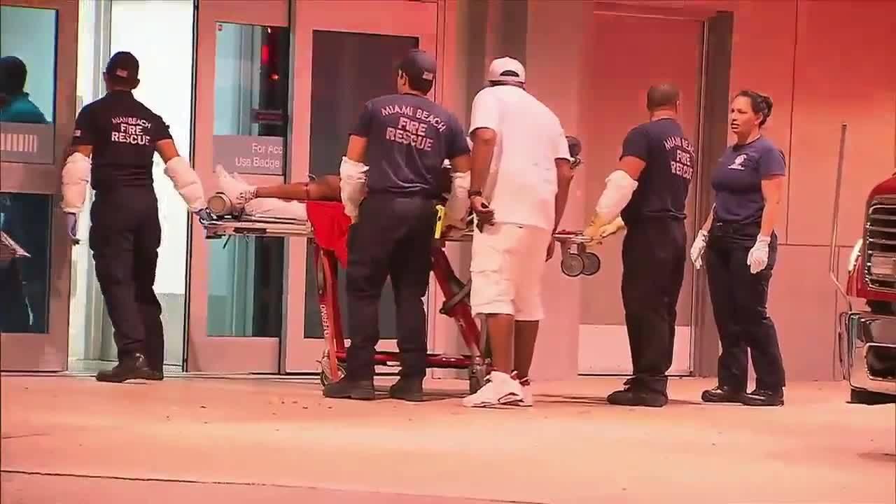 Fontainebleau Miami Beach shooting victim arrives at JMH
