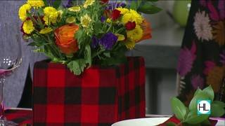 Create an upcycled holiday tablescape