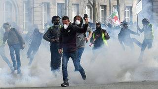 Protests continue in France as demonstrators clash with police