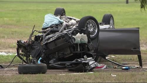 Grandfather killed, grandchildren hospitalized after medical episode causes crash