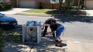 Pictures: Family discovers terrifying reason why dryer stops working