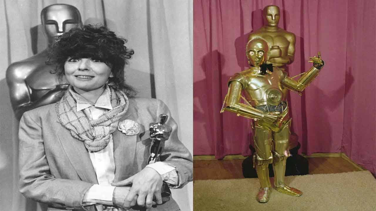 Diane Keaton of 'Annie Hall' vs C-3PO of 'Star Wars' at 1978 Oscars