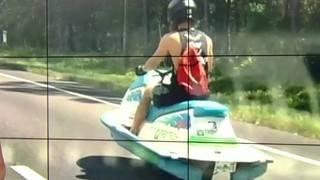Is that JetSki riding around on Florida roads legal?