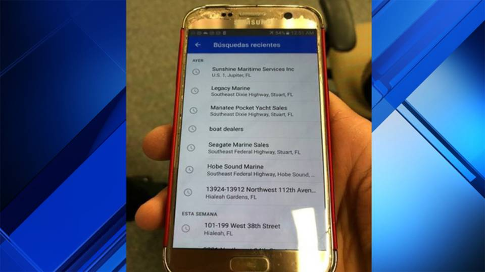 Phone with addresses to Martin County marinas