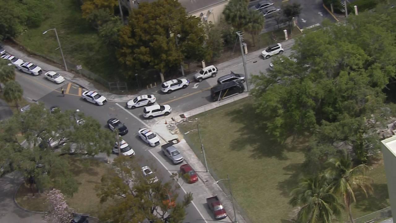 Police in Miami following Miami Beach police chase
