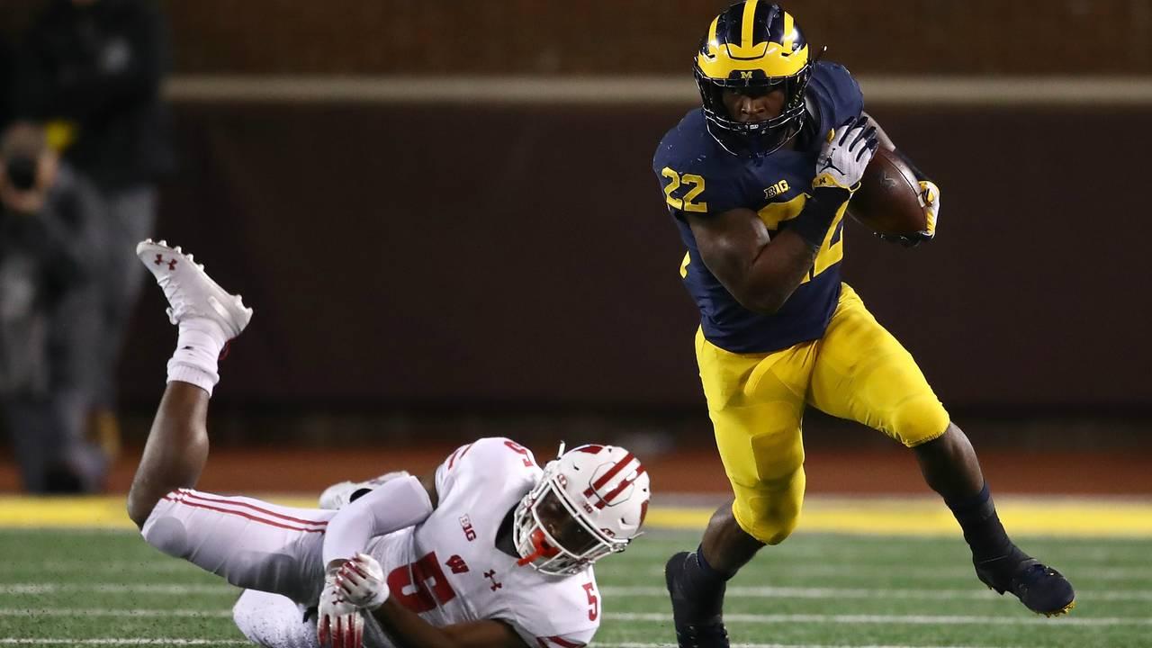 Karan Higdon run Michigan football vs Wisconsin 2018
