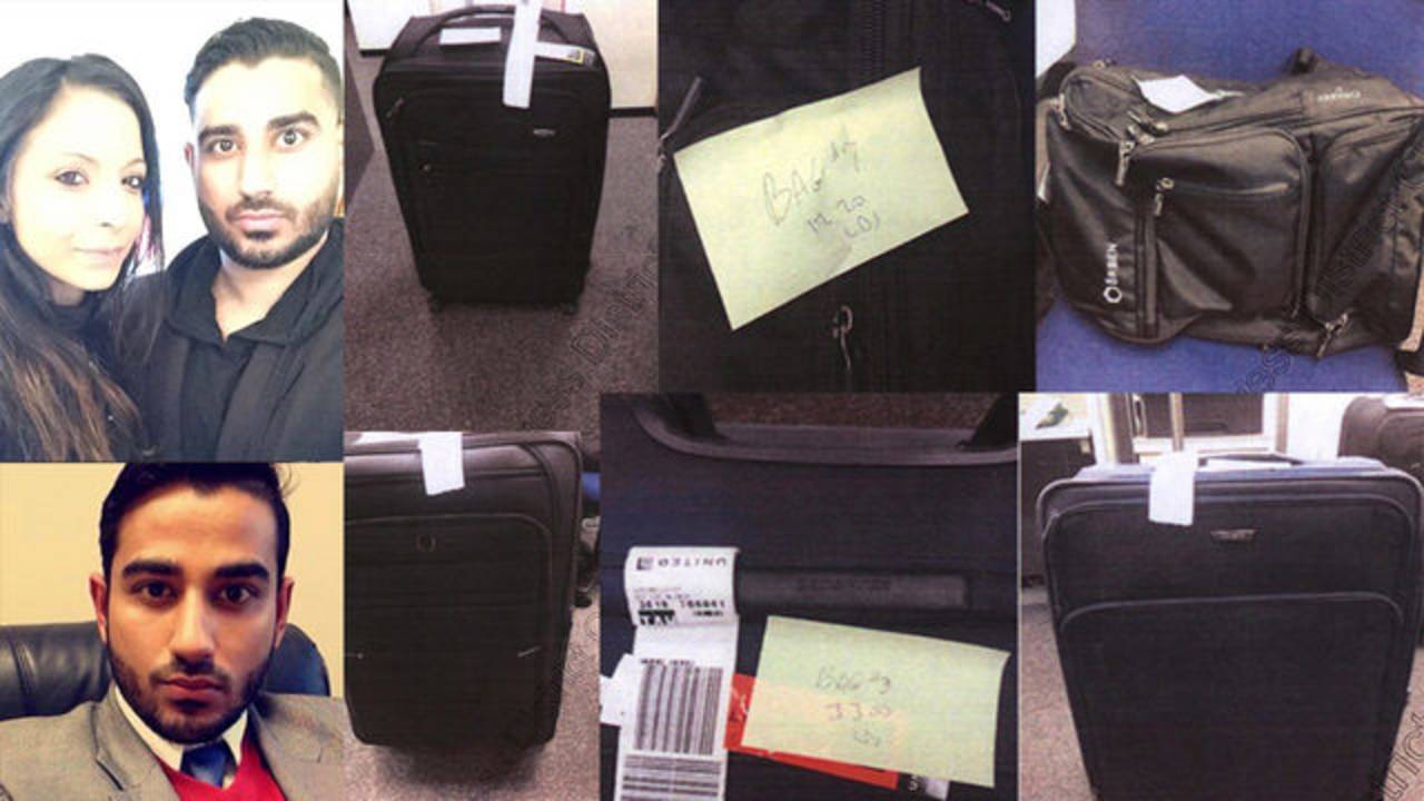 Nooralla Gheewalla-Fayyaz and Fayyaz Osama pot bags luggage
