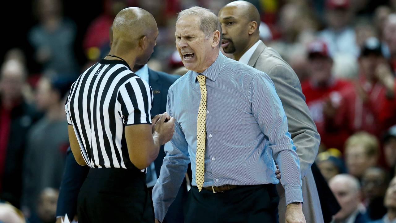 John Beilein Michigan basketball at Wisconsin 2019