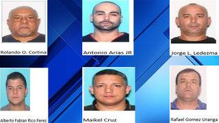 6 men busted while burglarizing warehouse in Doral, police say