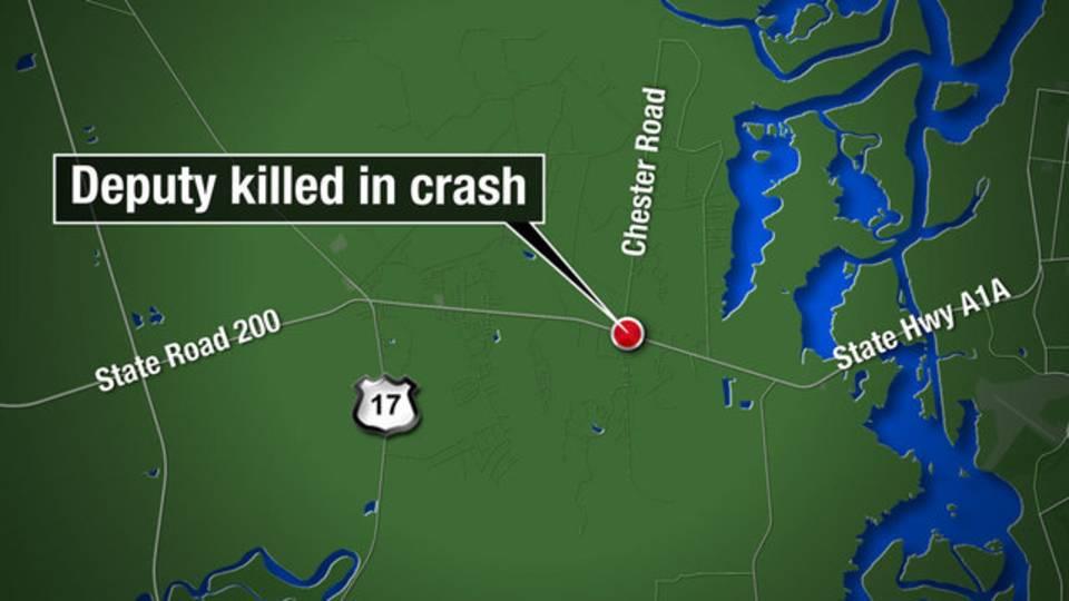 Map - Nassau deputy killed in crash