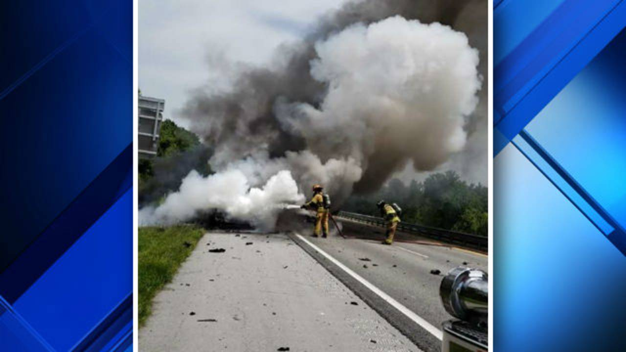 Vehicles catch fire in crash on Florida's Turnpike in
