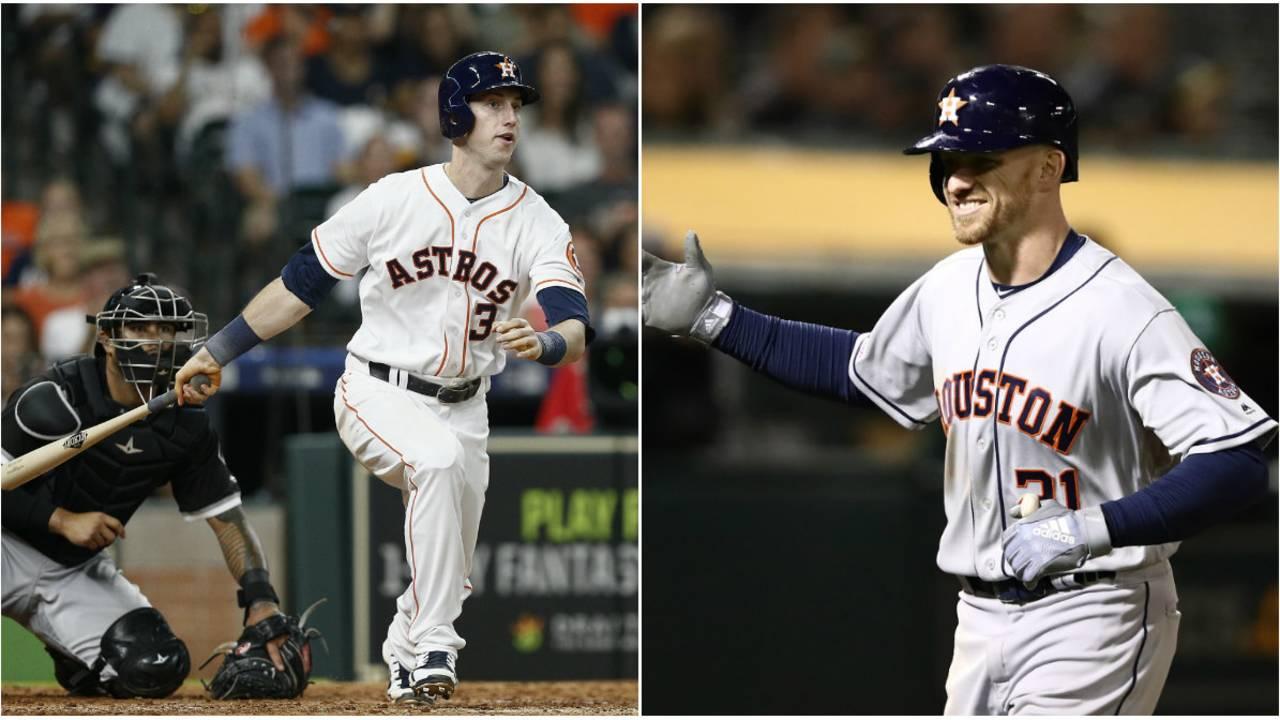 Kyle Tucker and Derek Fisher Houston Astros 2018