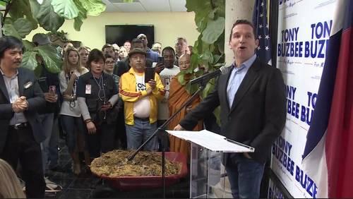 'Something stinks at City Hall': Buzbee takes shots at Mayor Turner