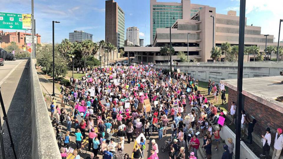 JAX women's march crowd