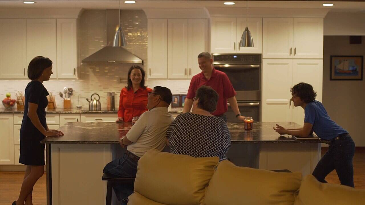 Brosche Family in kitchen
