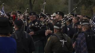 Officers play music with pride to honor fallen San Marcos officer at funeral