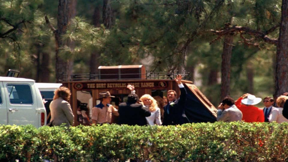 Burt Reynolds and Loni Anderson wedding 1988