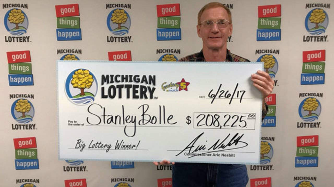 Stanley Bolle Fantasy 5 lottery ticket winner