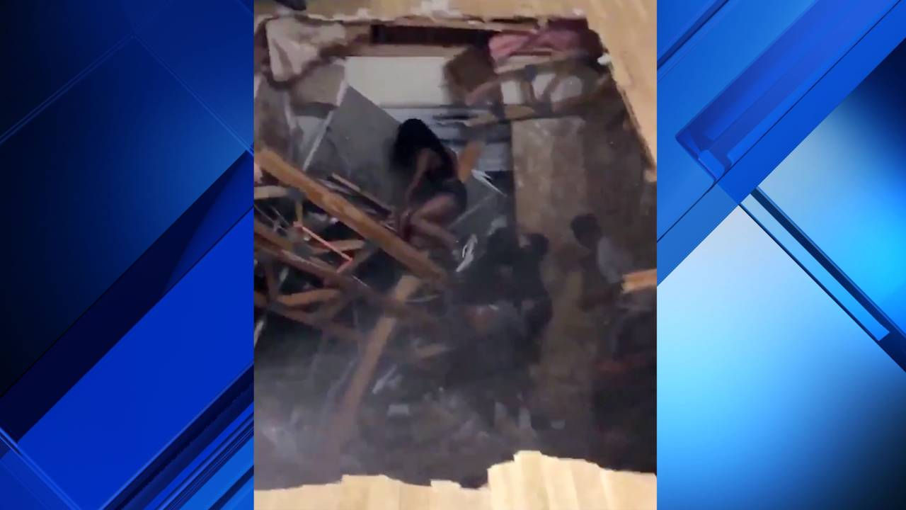 Cellphone Video Captures Floor Collapse During Texas