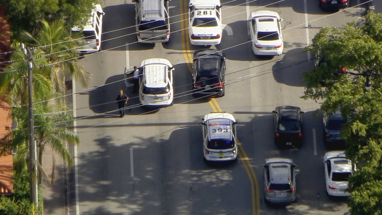 Police cars in Coral Gables