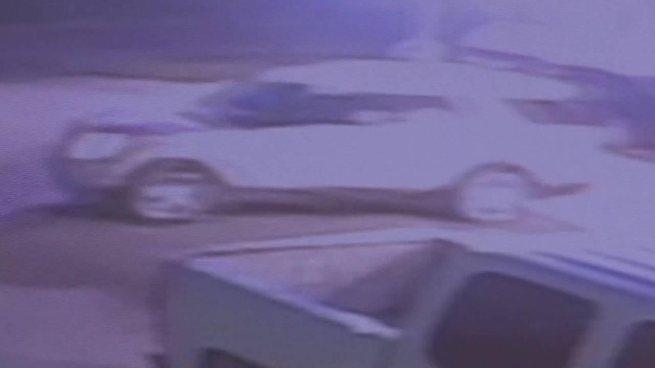 Surveillance image of road rage fireworks shooting suspect vehicle 7-5-19