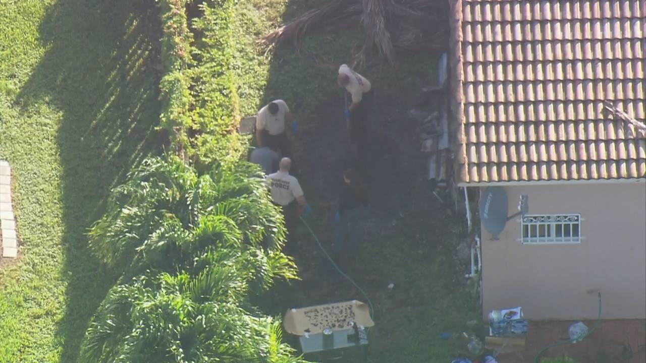 Sky 10 police find charred remains of Hilda Gonzalez on side of home