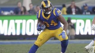 Running back Malcolm Brown is staying with the Rams