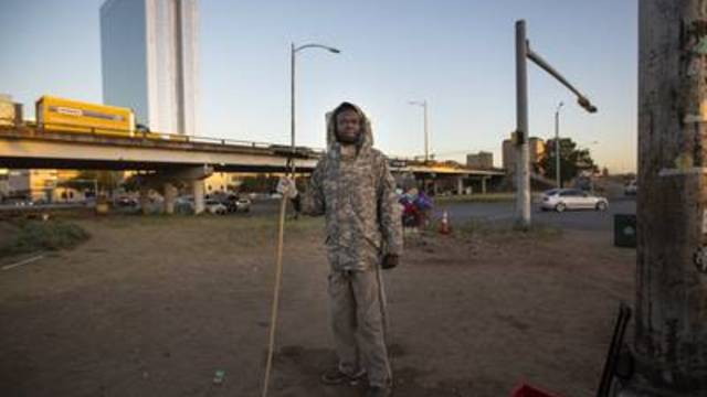 Bill Taban, a Sudanese immigrant, left his country 19 years ago during a civil war. He says aging in the streets is the most challenging aspect of homelessness.