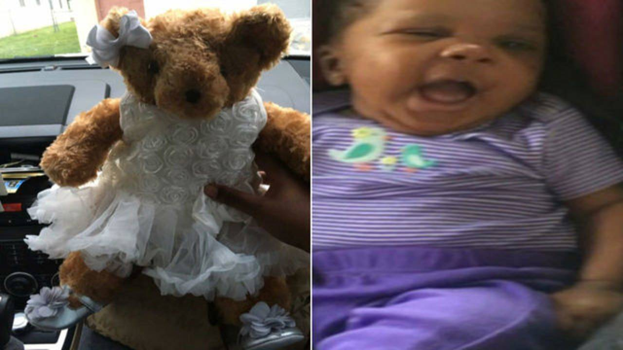 La'Vae McKinney and ashes in teddy bear