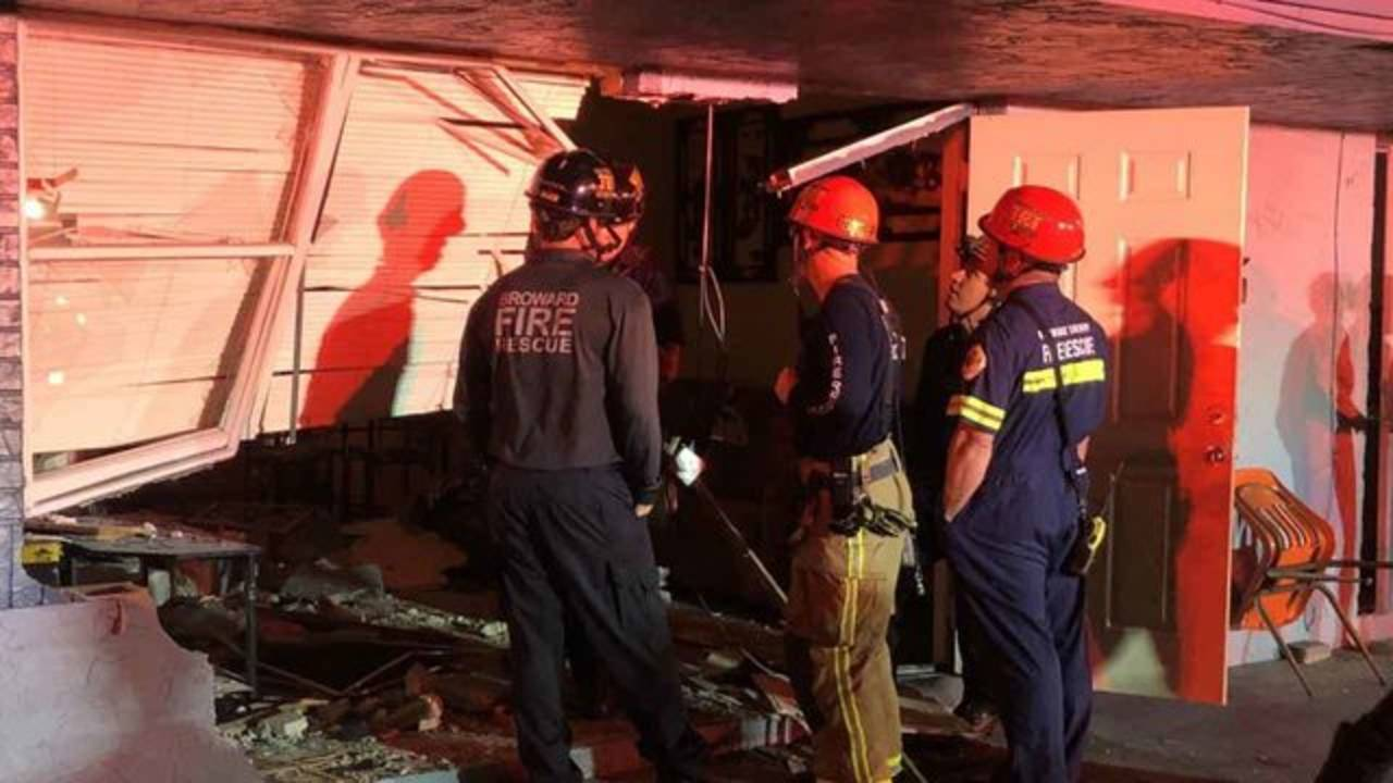 Firefighters deem house unsafe after pickup truck crashes into living room