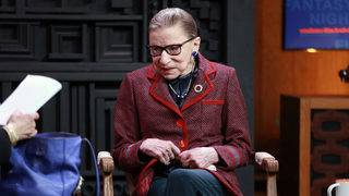 Ginsburg says she's 'almost repaired' after last month's fall
