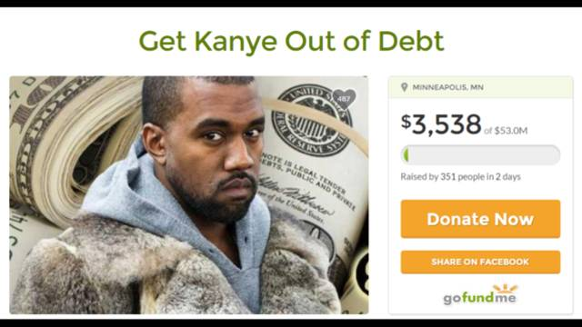 fan starts kanye west gofundme page to help artist get out of
