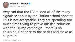 Trump tweet angers survivors of Parkland shooting