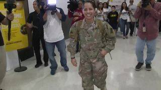 Miami police officer receives warm welcome home after Afghanistan deployment