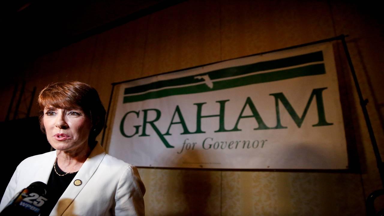 Gwen Graham speaks to media after final Democratic gubernatorial debate in Palm Beach Gardens