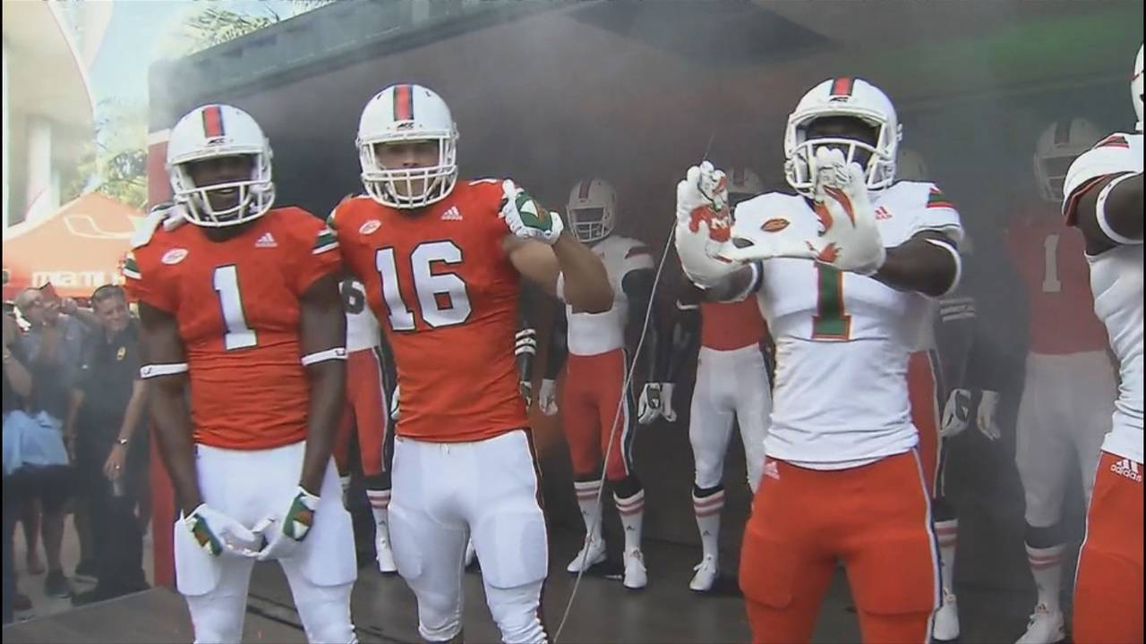 507e07273 Hurricanes football team reveals throwback uniforms