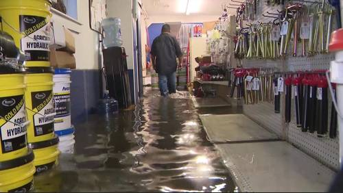 'It's bad': Some places waterlogged after nearly 10 inches of rain