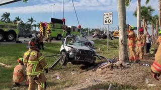 Miami-Dade Fire Rescue paramedics 'stunned' driver in Turnpike crash survived