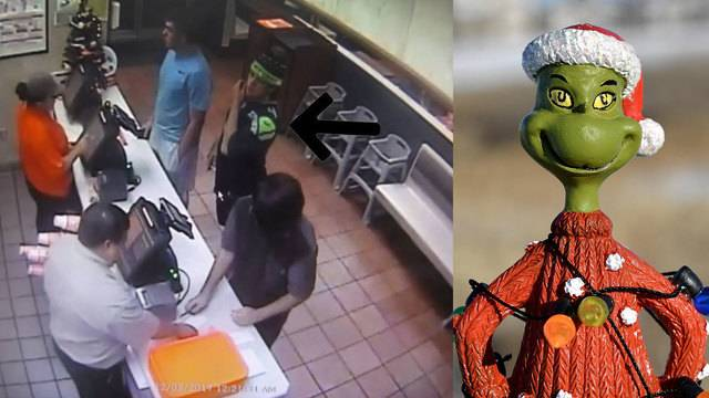 seguin texas the man better known as the grinch by the seguin police department found his holiday cheer and returned the small christmas tree after - Is Whataburger Open On Christmas