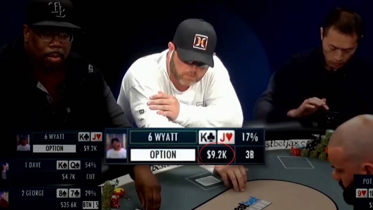 Wyatt Green playing poker for web story