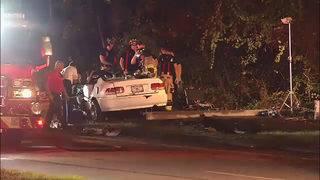 JFRD: Car strikes light pole, driver rushed to hospital