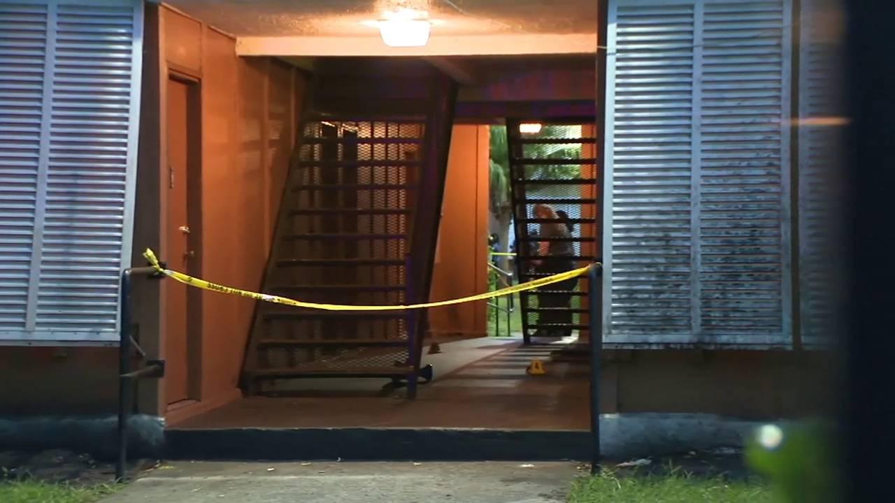 hallway apartment crime scene July 17 pm