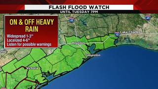 Flash flood watch issued for several Houston-area counties until 7 p.m.