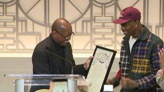 Astroworld Day: Mayor Turner honors rapper Travis Scott with proclamation